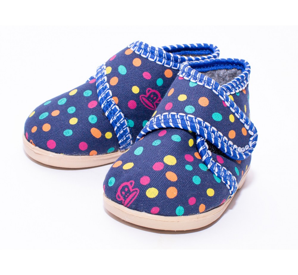 Slippers with a shirt front